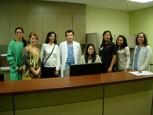Dr. Rinky Kapoor with Dr. Hayes Gladstone – Head, Department of Dermatologic surgery